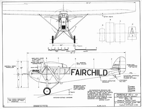 Drawing - Paul Matt - Fairchild FC-1