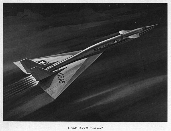 Drawing - Paul Matt - North American XB-70-1 Valkyrie