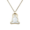 Reverso Buddha necklace in 18k gold and mother of pearl