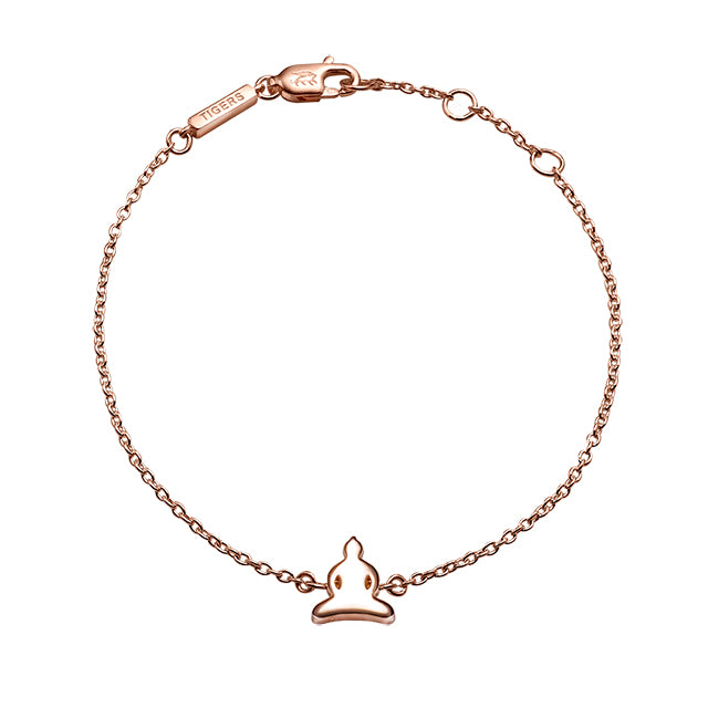 Buddha chain bracelet plated in 18k rose gold