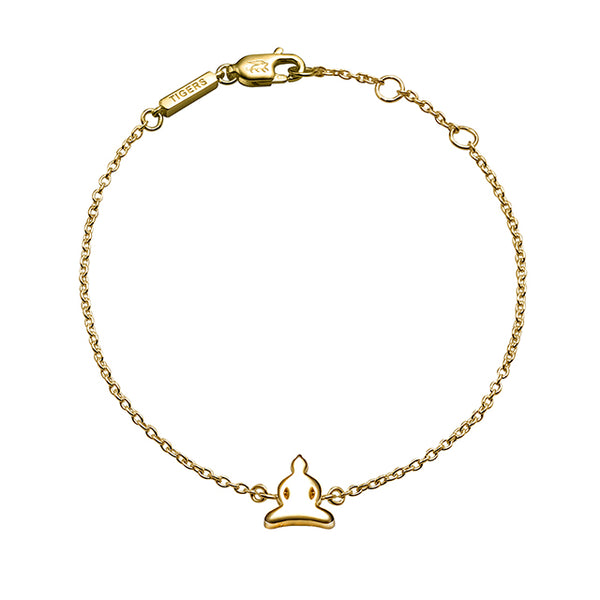 Buddha chain bracelet plated in 18k yellow gold