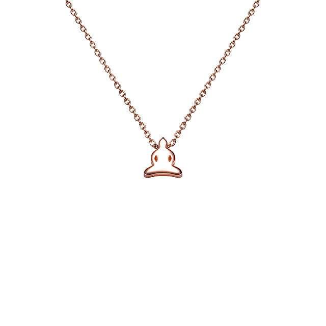 Buddha icon necklace plated in 18k rose gold
