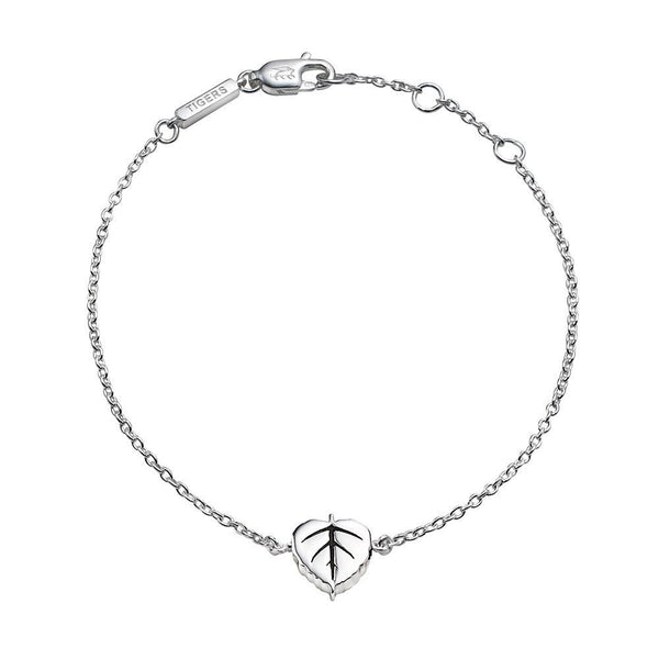 Bodhi Leaf chain bracelet in sterling silver - Tigers & Dragons