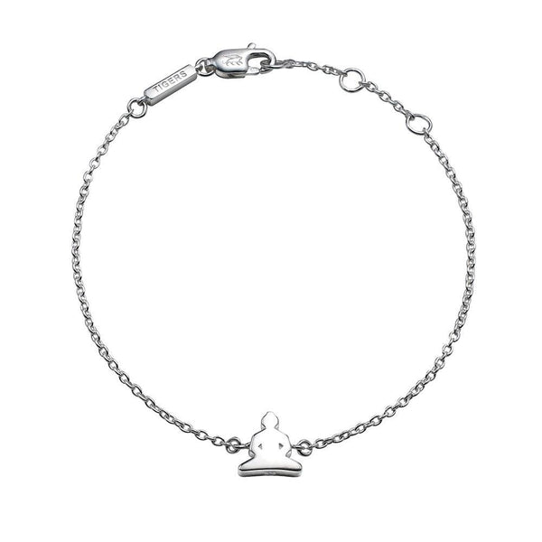 Buddha chain bracelet in sterling silver - Tigers & Dragons