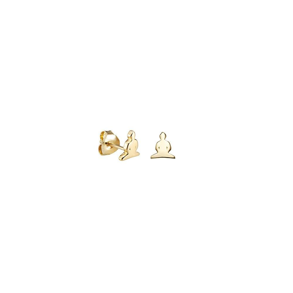 Buddha earrings in 18k gold - Tigers & Dragons