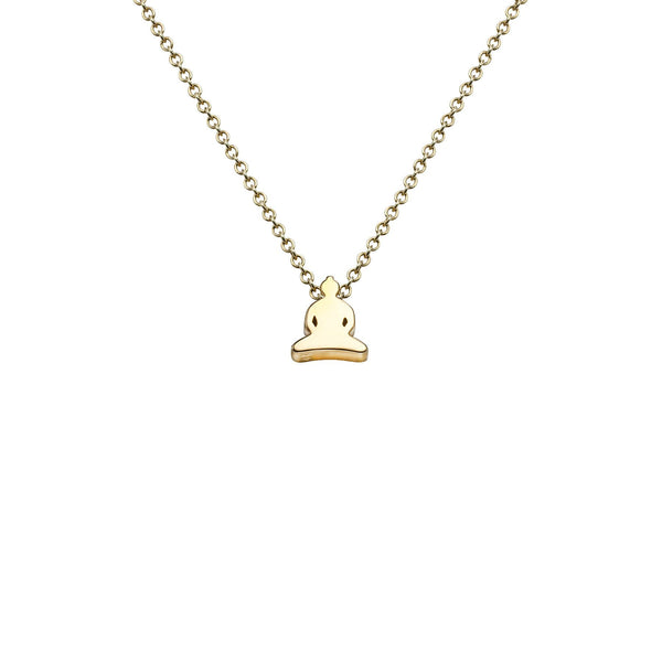 Buddha icon necklace in 18k gold - Tigers & Dragons
