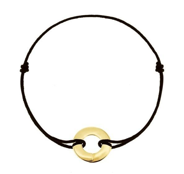Full moon Enso bracelet in 18k gold - Tigers & Dragons