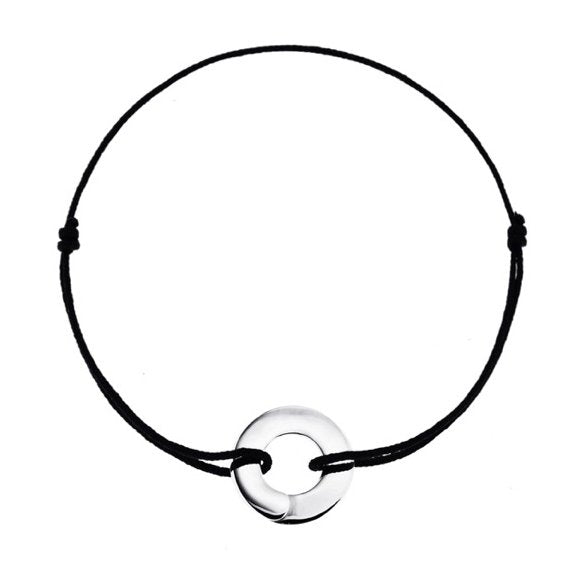 Full moon Enso bracelet in sterling silver - Tigers & Dragons