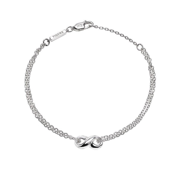 Infinity double chain bracelet in sterling silver - Tigers & Dragons