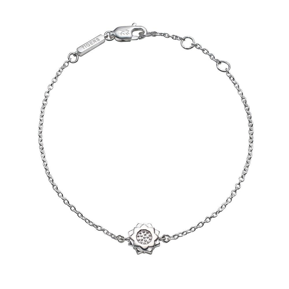 Lotus chain bracelet in sterling silver - Tigers & Dragons