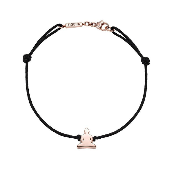 Silver Buddha bracelet plated in 18k rose gold - Tigers & Dragons