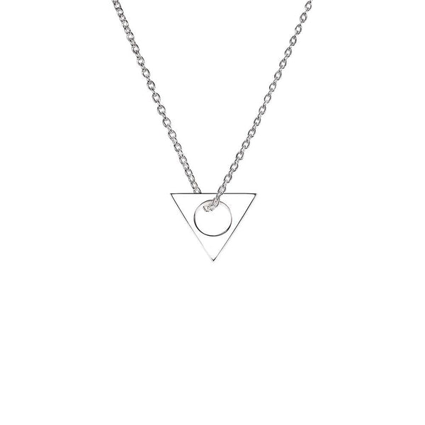 Triratna necklace in sterling silver - Tigers & Dragons