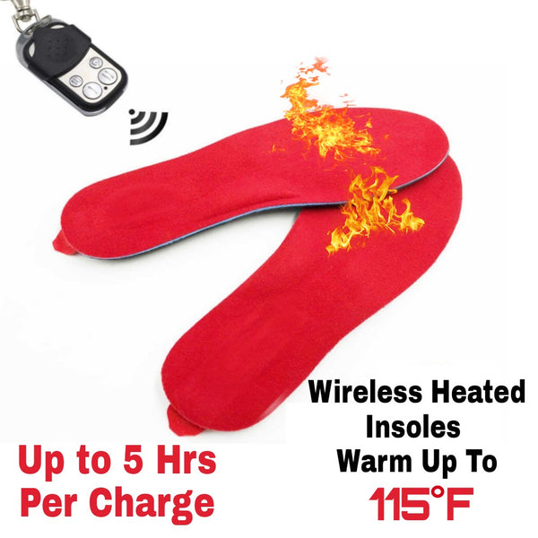 Wireless HotToes | Lithium Battery Powered Remote Control Heated Insoles