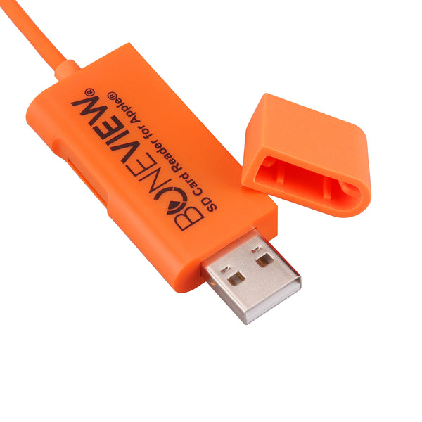 New BoneView SD Card Reader for Apple iOS iPhone & iPad with Cord