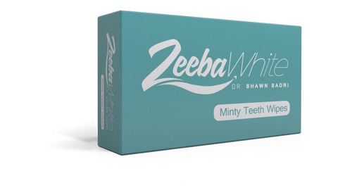 ZEEBA WHITE MINTY TEETH WIPES