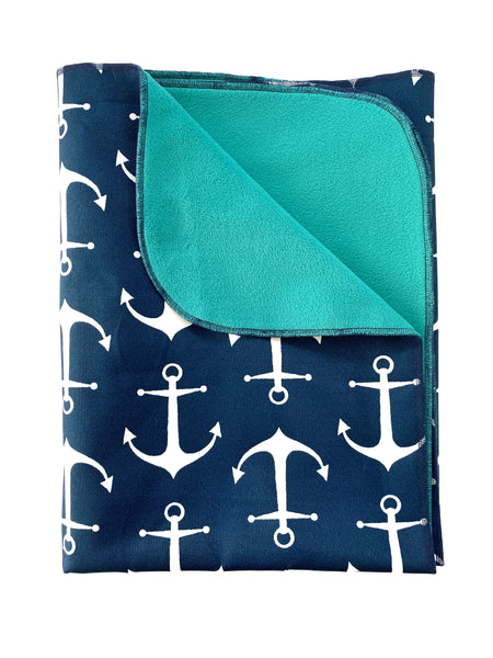 Blanket Navy Anchor
