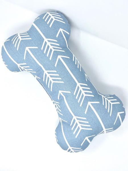 Bone Pillow Arrow Dusty Blue