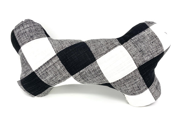 Bone Pillow Black and White Buffalo