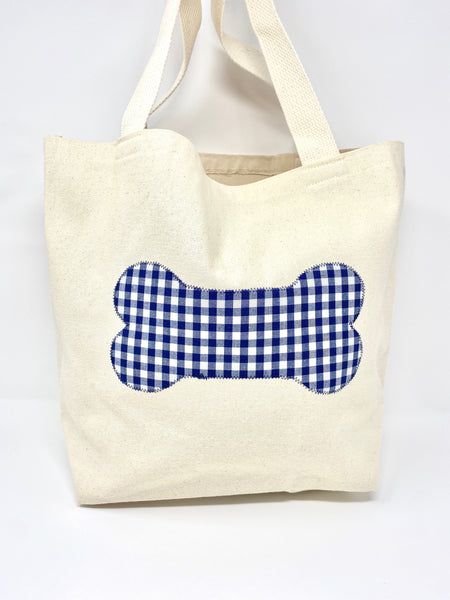 Market Bag Navy Gingham