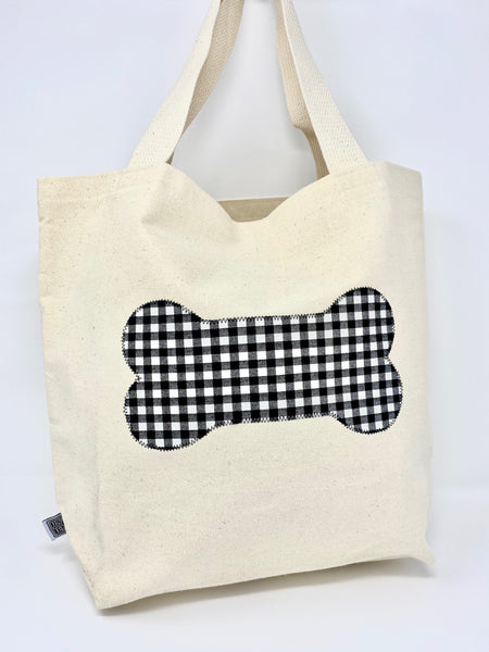 Market Bag Black Gingham