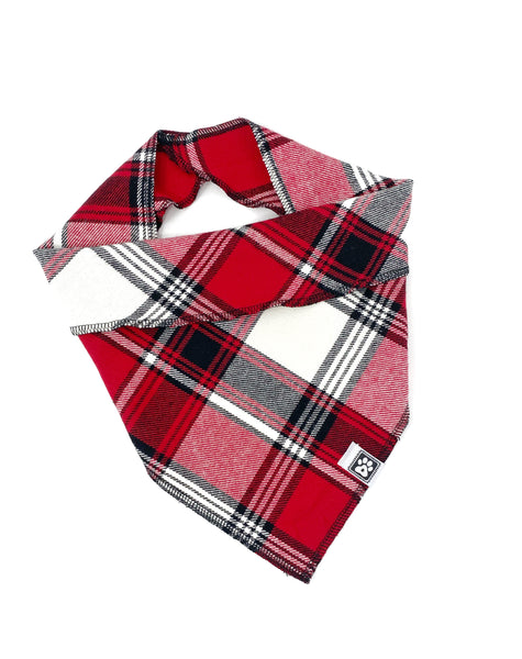 Bandana-Flannel Red and Black Plaid