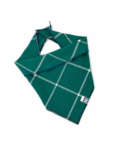 Bandana-Flannel Hunter Green