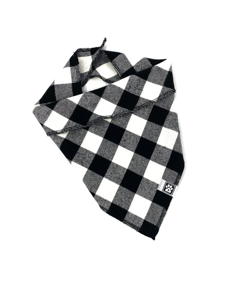 Bandana-Flannel Black & White Buffalo