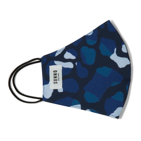Blue Koh printed Face Mask