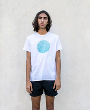 Screen print white T-shirt