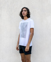 Sunno stripes print white T-shirt