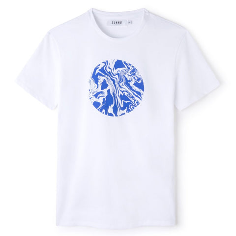 Sunno by Bene Cape printed white T-shirt