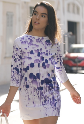 Sunday Chic dress (Purple Tulips)