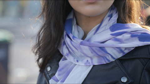 Wrap Around Scarf (Purple Tulips)