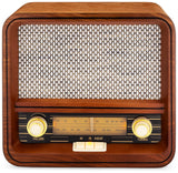 Classic Vintage Retro AM/FM Radio with Bluetooth & Aux-in