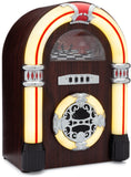 Jukebox Bluetooth Speaker with Lights & Aux-in | Retro Style Handmade Wooden Exterior