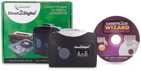 Direct2Digital® Cassette Converter | Convert Cassette Tapes To MP3 - No Computer Required