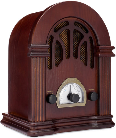 Retro Wooden AM/FM Radio with Bluetooth
