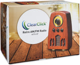 Classic Vintage Retro Style AM/FM Radio with Bluetooth (Model VR45)