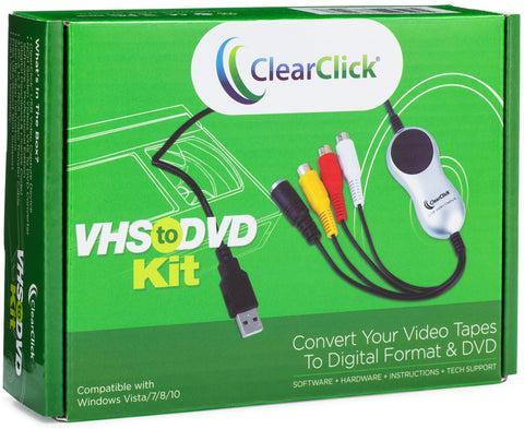 VHS To DVD Kit for PC | Convert Any Video Tape To Digital Format