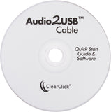 "Audio2USB™ Cable | Record Audio & Music From 1/8"" (3.5mm) Audio Sources"