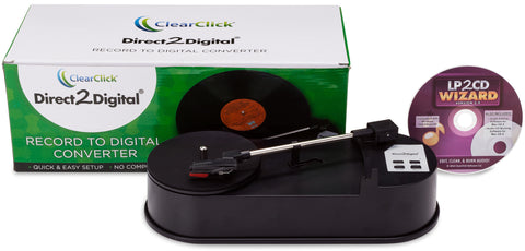 Direct2Digital® Record Converter | Convert 33 RPM Records To MP3 - No Computer Required
