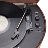 Vintage Wooden Suitcase Turntable with Bluetooth & USB (Model VT30)