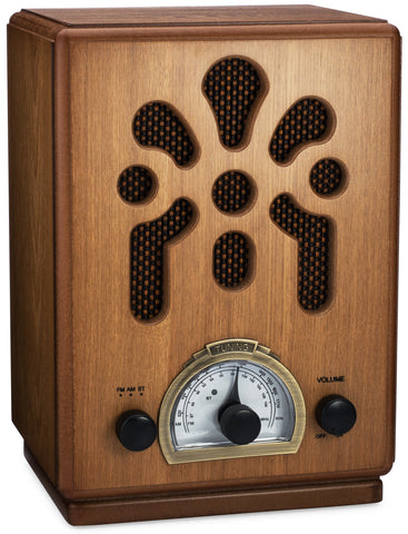 Classic Vintage Retro Style AM/FM Radio with Bluetooth (Model VR43)
