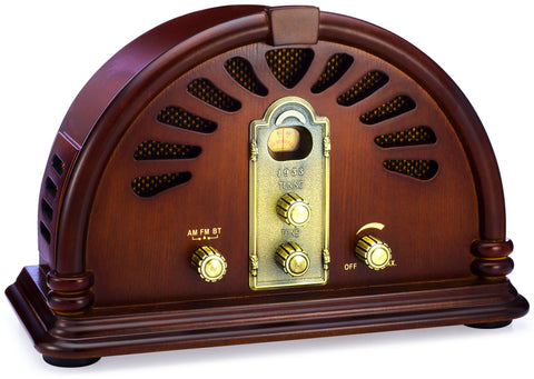 Classic Vintage Retro Style AM/FM Radio with Bluetooth (Model VR44)