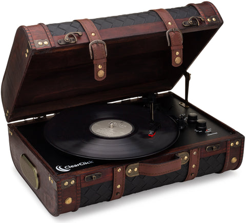 Vintage Wooden Suitcase Turntable with Bluetooth & USB (Model VT31)