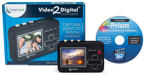 Video2Digital® Converter | Capture Video From VCR's, VHS Tapes, Hi8, Camcorder, DVD, & Gaming Systems - No Computer Required