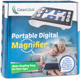 "Portable Handheld Digital Magnifier with 3.5"" LCD & Up to 10x Magnification 