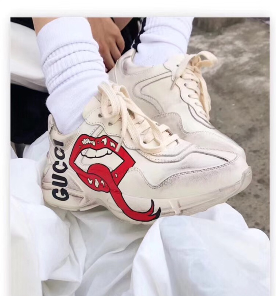 f19c72b2c ... Gucci Rhyton Vintage Trainer with Mouth Print - Low-Profile Store ...