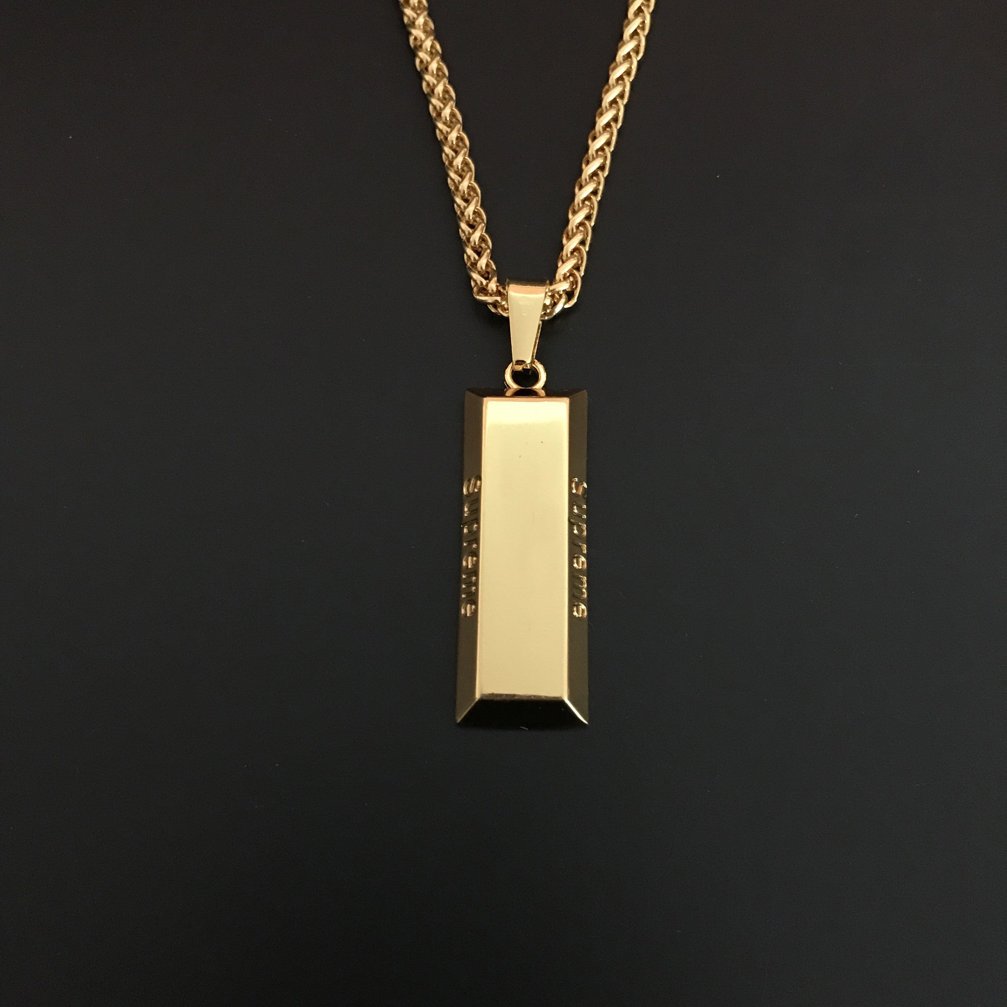 necklace fine bar suisse estate gold pendant credit yellow in