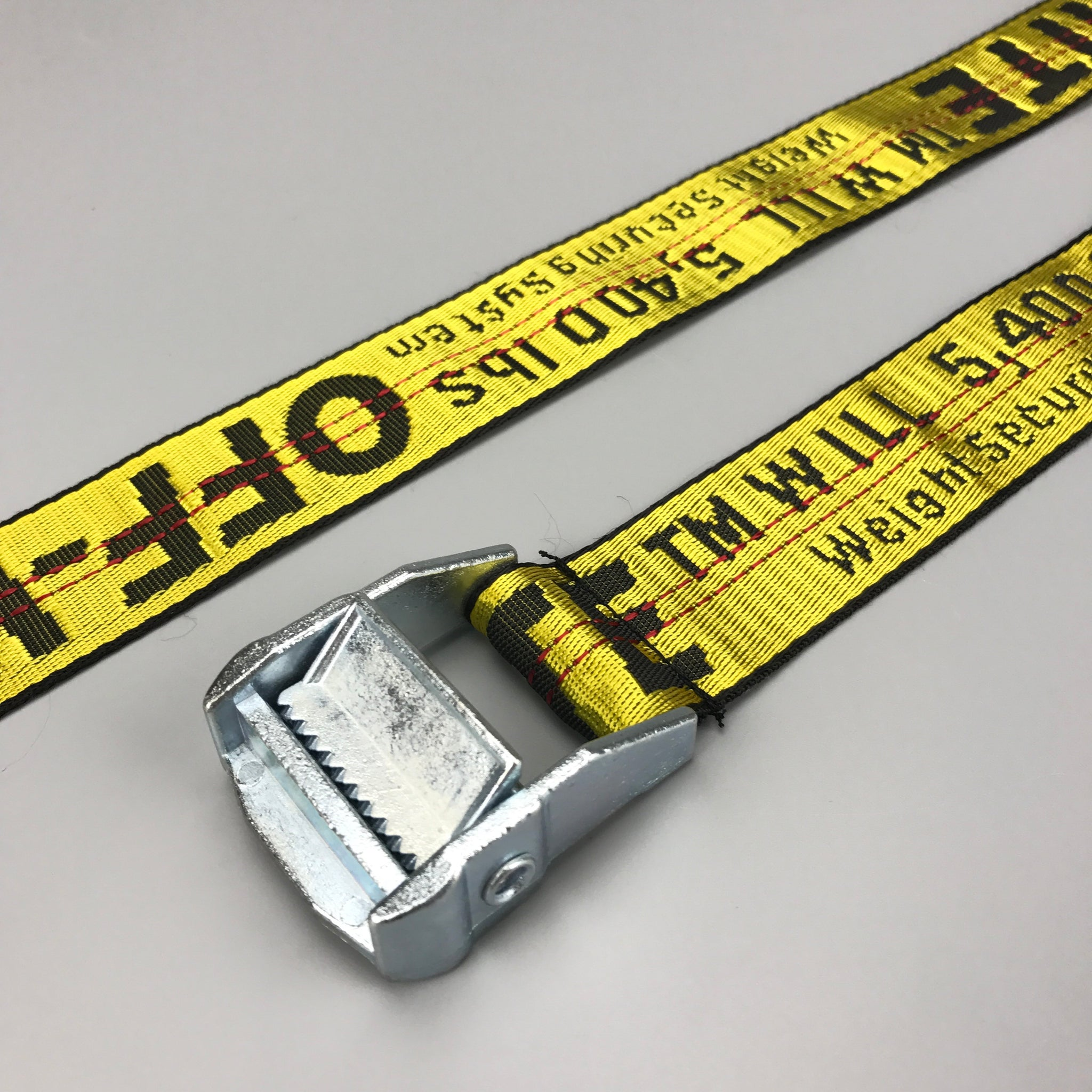 Off White Industrial Belt Yellow Low Profile Store